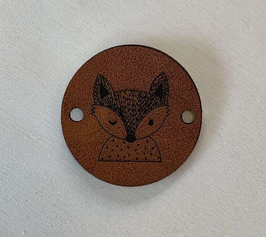 Kunstlederen label vos