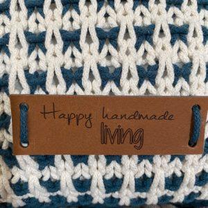 Lederen Label Happy handmade living