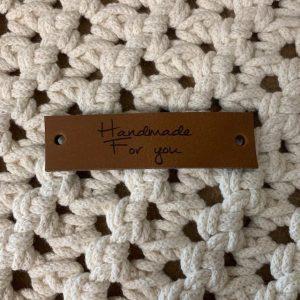 Lederen Label Handmade for you