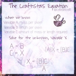 The Craftista's Equation