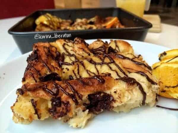 Baked Orange-Hazelnut & Chocolate Chunk French Toast
