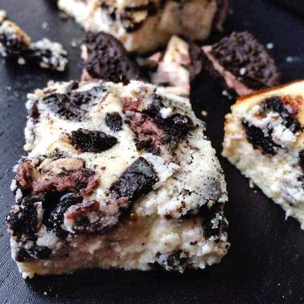 Oreo Peanut Butter Cup Cheesecake Bars