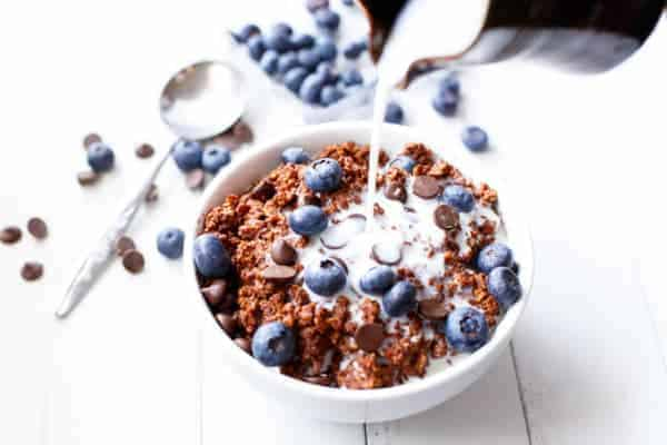 Blueberry Brownie Batter Oatmeal