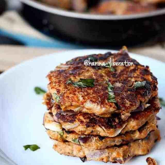 Turkey, Parmesan & Herb Sweet Potato Burgers - cafedelites