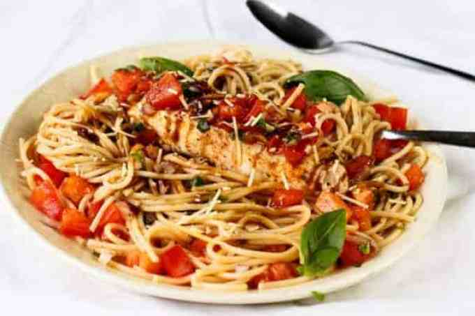 Chicken Bruschetta Pasta Salad - Cafe Delites