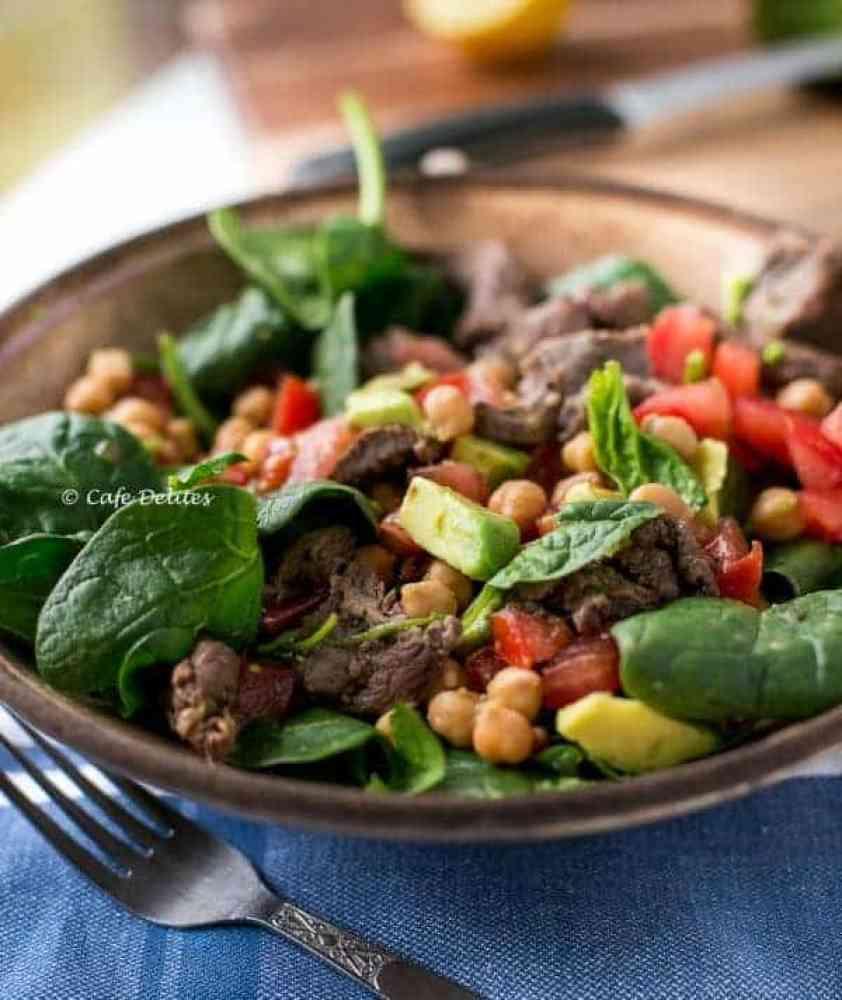 Lamb Chick Pea Salad - Cafe Delites-10