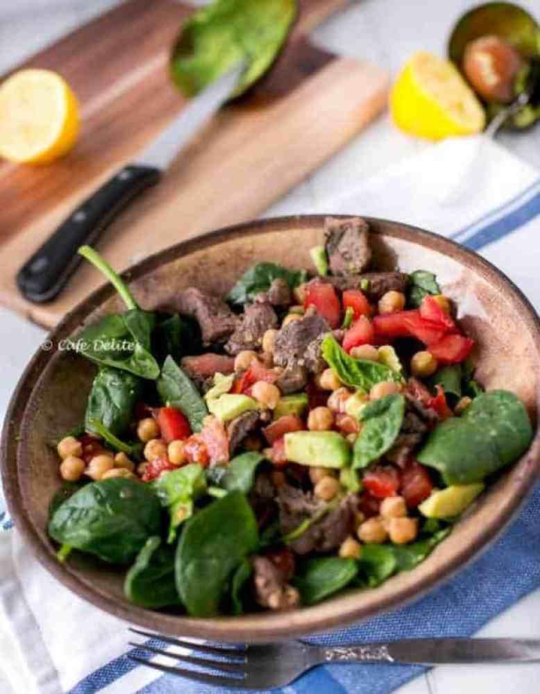 Lamb Chick Pea Salad - Cafe Delites-7
