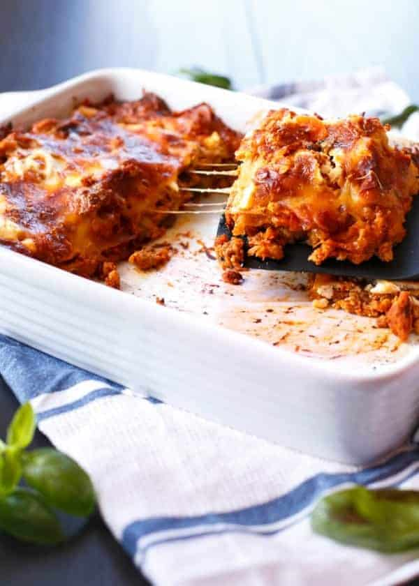 Chicken Pumpkin and Ricotta Lasagna
