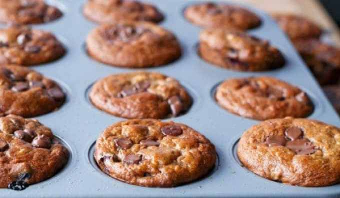 Banana and Blueberry Chocolate Chip Muffins - Cafe Delites