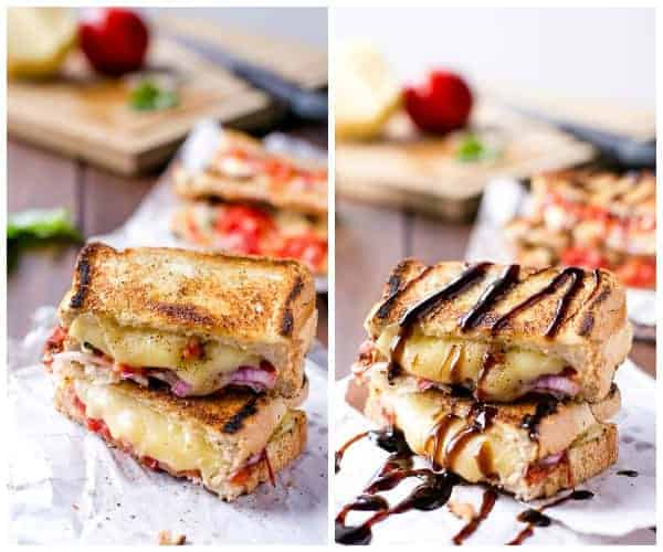 Caprese Grilled Cheese - Cafe Delites HOWTO