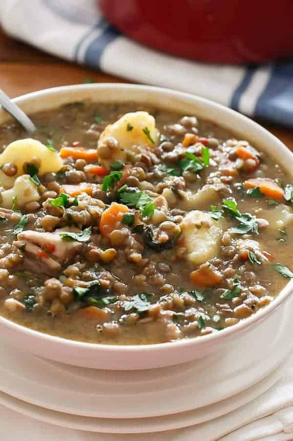 Warm Chicken Lentil Stew - Cafe Delites-13