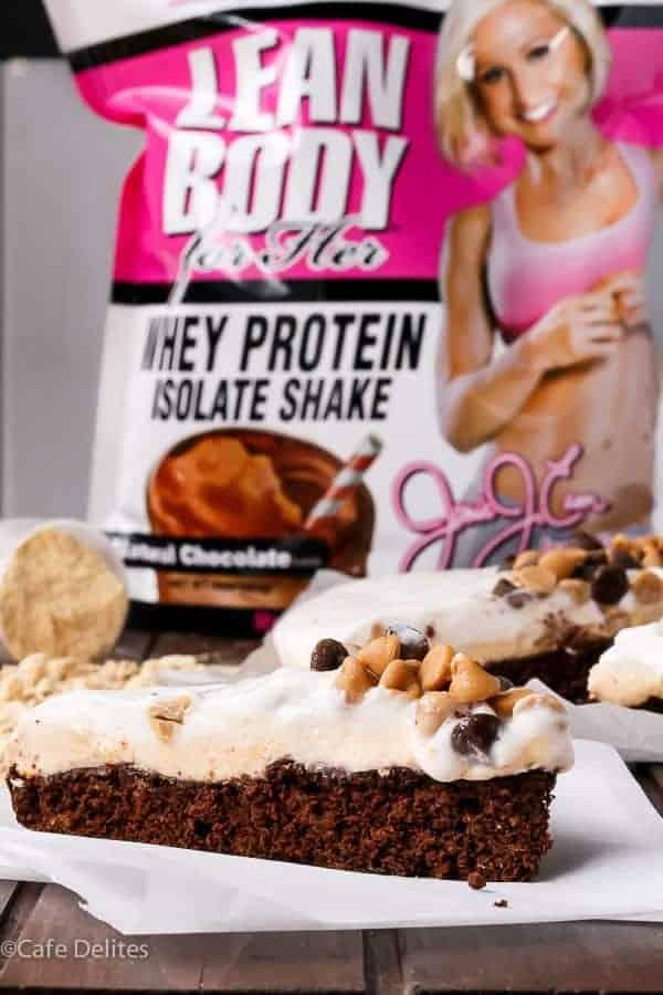 Jamie Eason Peanut Butter Chocolate Brownie Pie http://cafedelites.com