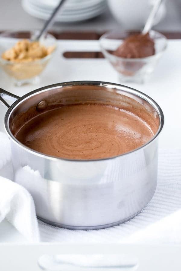 Peanut Butter Nutella Hot Chocolate - Cafe Delites http://cafedelites