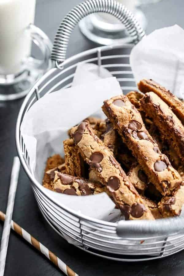 Low Fat Chocolate Chip Cookie Sticks   http://cafedelites.com