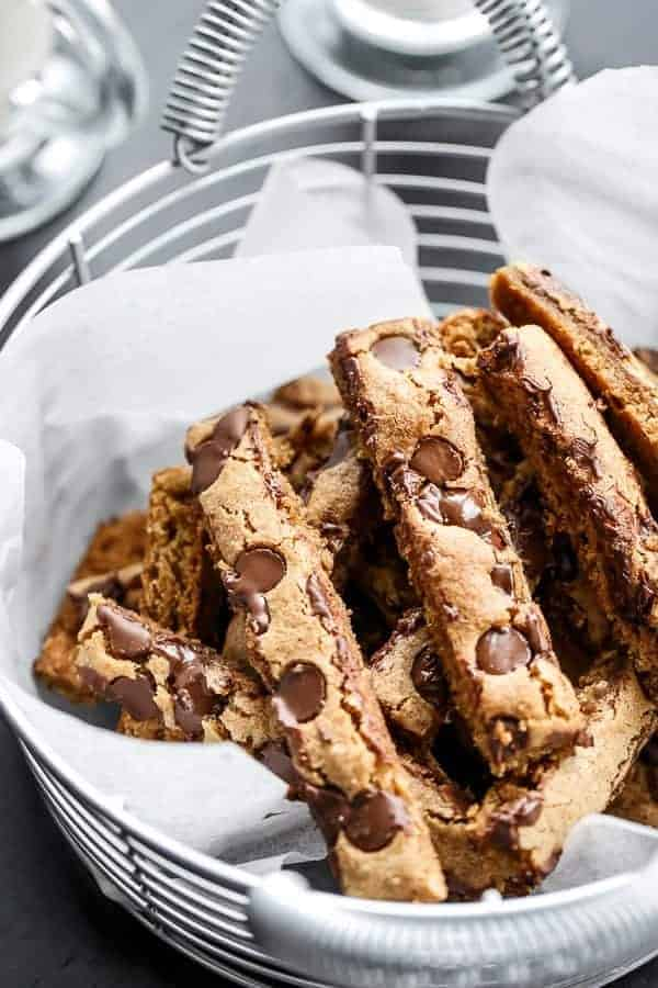 Low Fat Chocolate Chip Cookie Sticks | https://cafedelites.com
