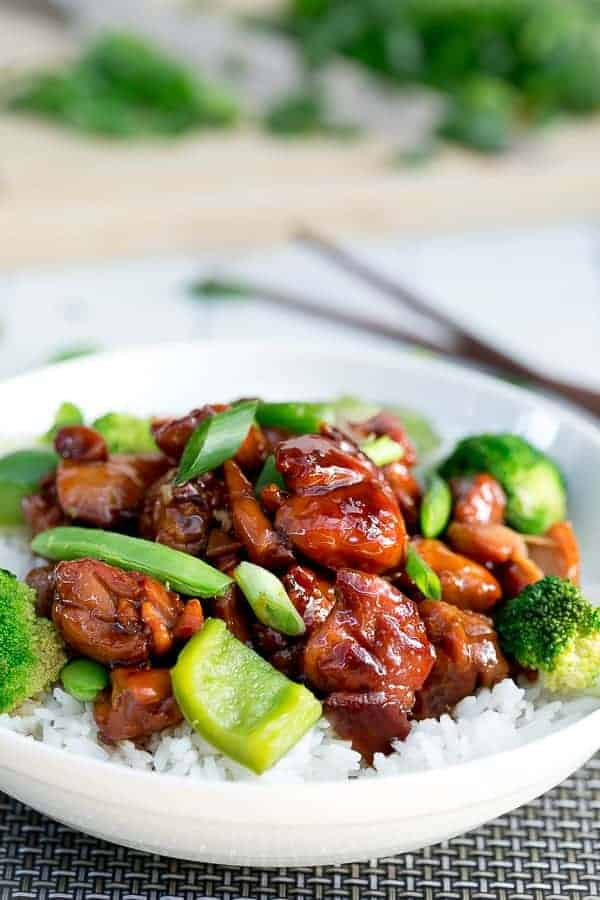 Simple Chicken Teriyaki Stir Fry | https://cafedelites.com