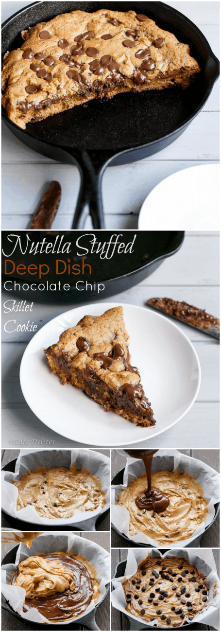 Nutella Stuffed Cookie HOW TO | http://cafedelites.com