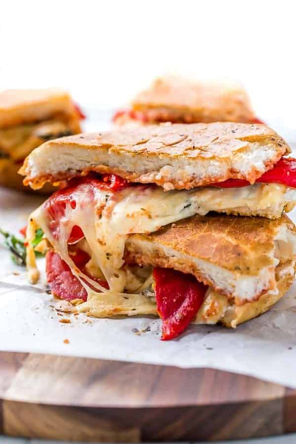 Focaccia Three-Cheese Italian Grilled Cheese   https://cafedelites.com