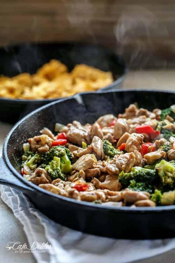 Simple Hoisin Chicken and Broccoli Stir-Fry | http://cafedelites.com