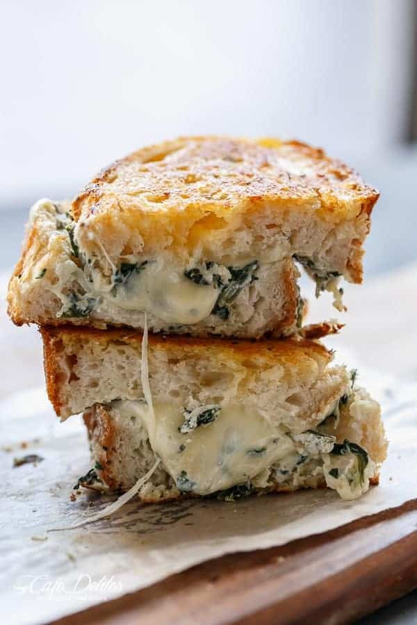 spinach and ricotta grilled