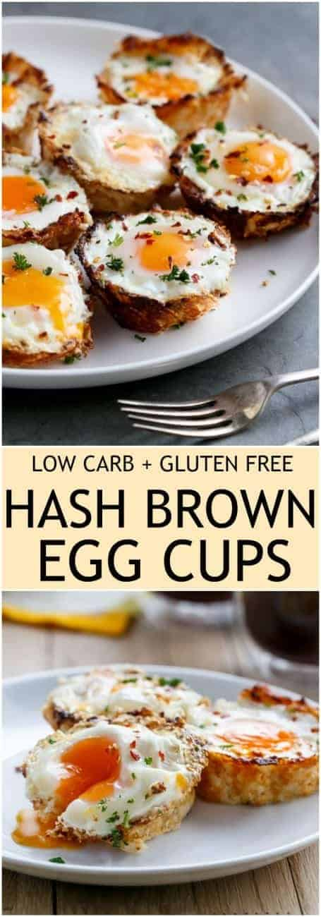 Hash Brown Egg Nests are #LowCarb + #GlutenFree #WeightWatchers) | https://cafedelites.com