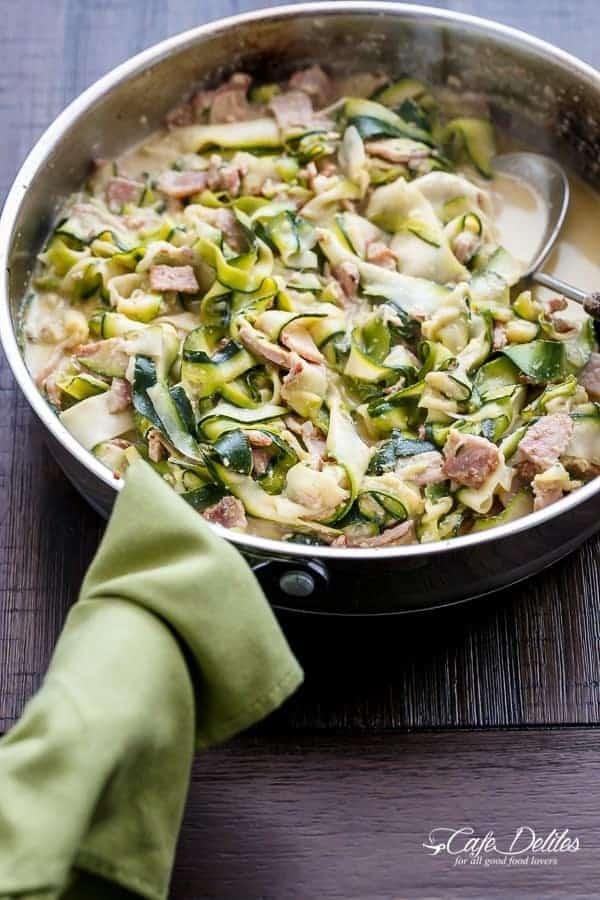 Zucchini (Zettuccine) Carbonara