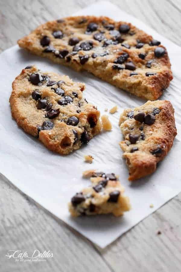 Single Serve Jumbo Low Carb Chocolate Chip Cookie | https://cafedelites.com