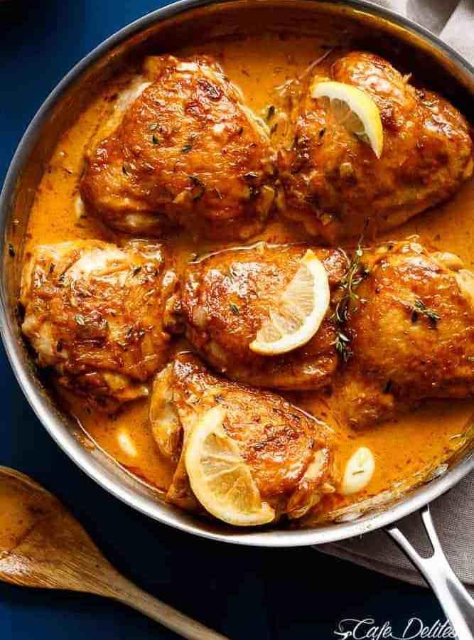 Creamy Lemon Garlic Chicken