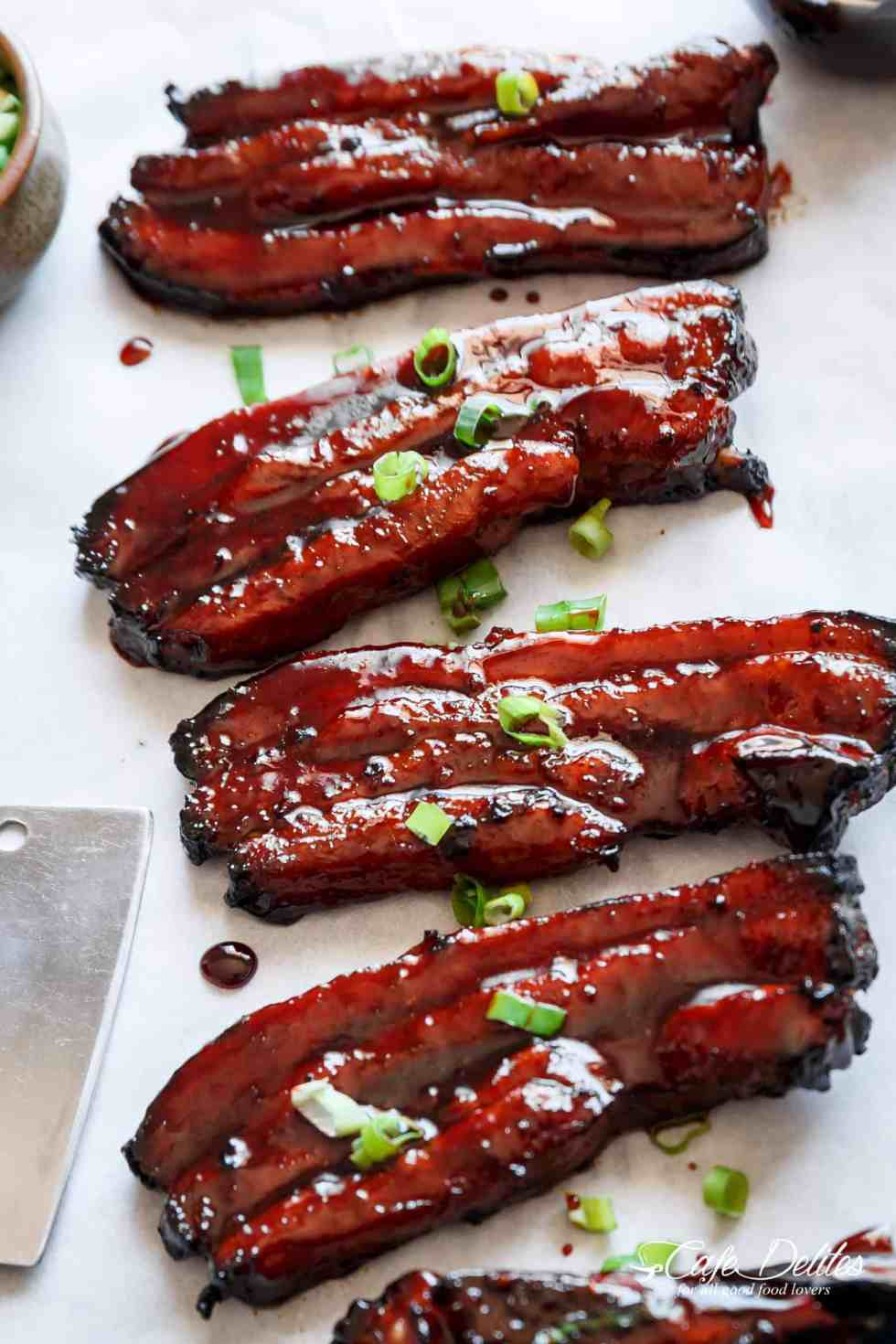 how to cook pork belly strips uk