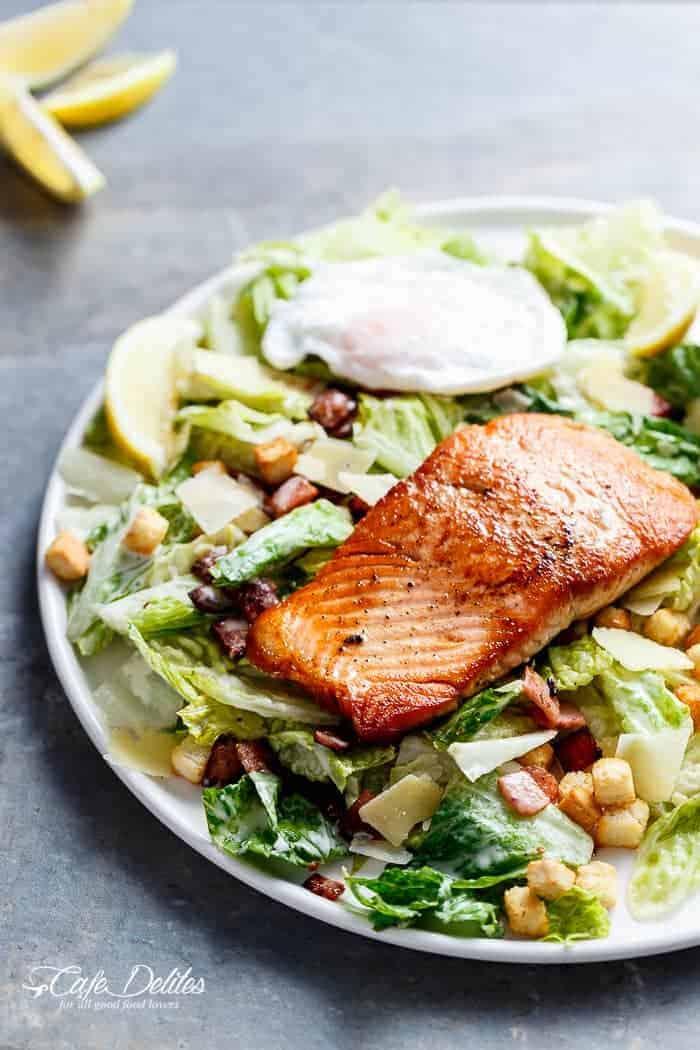 Salmon And Avocado Caesar Salad Cafe Delites