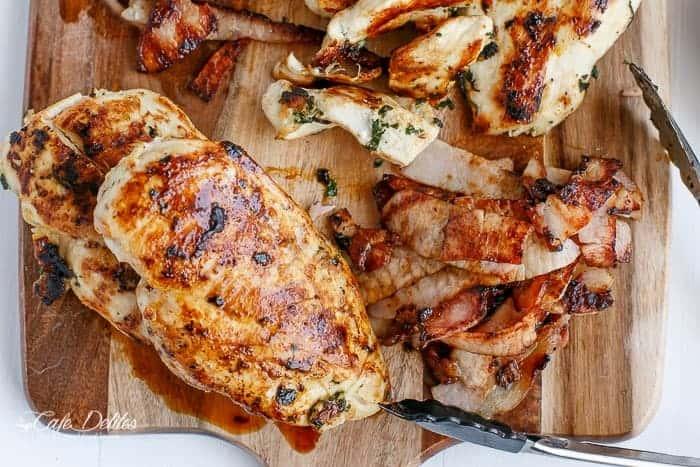 Pomegranate Chicken Bacon Avocado Salad | http;//cafedelites.com
