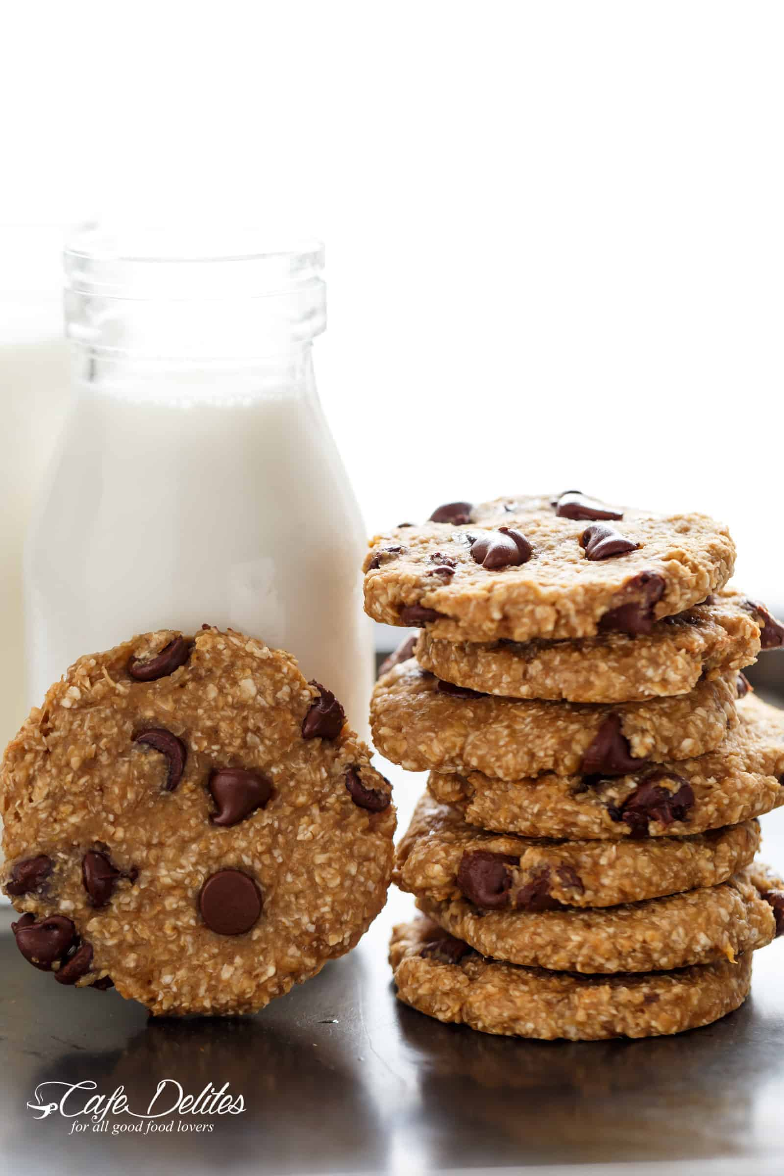 healthy 2 ingredient breakfast cookies cafe delites