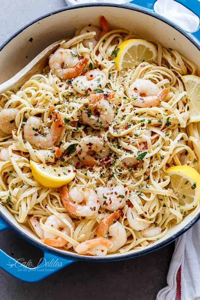 Browned Butter Shrimp Scampi