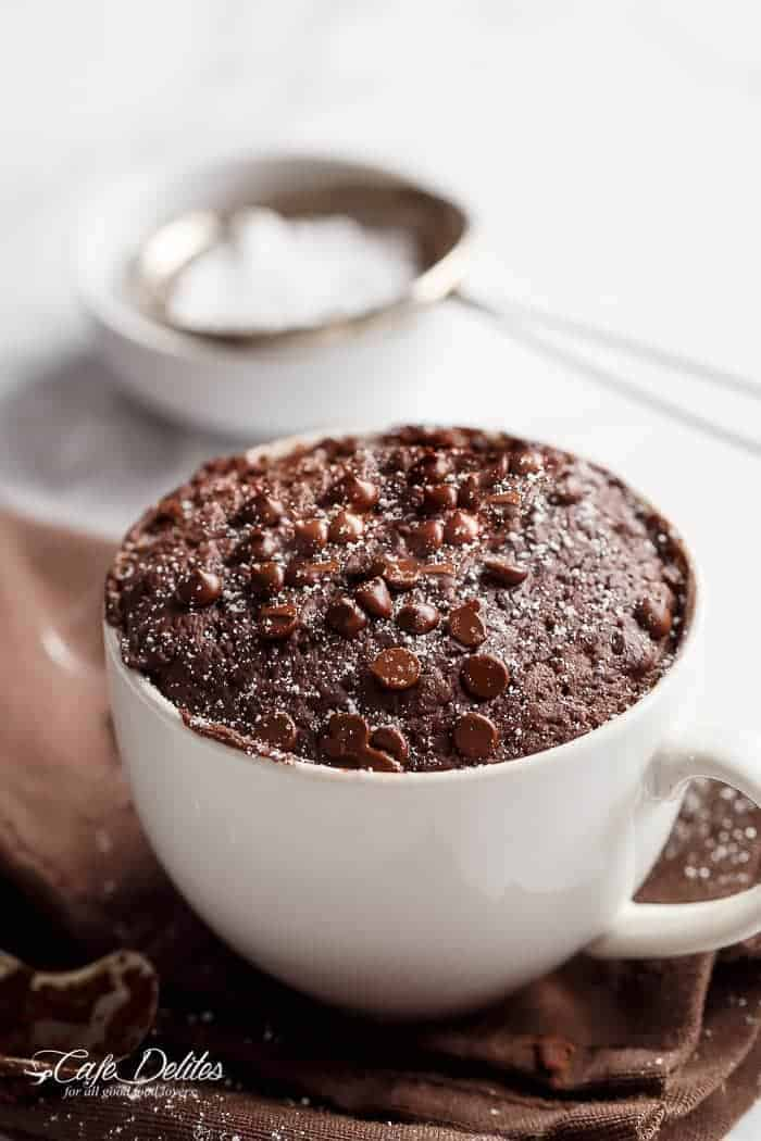 Low fat chocolate mug cake cafe delites for Non fat cake recipes