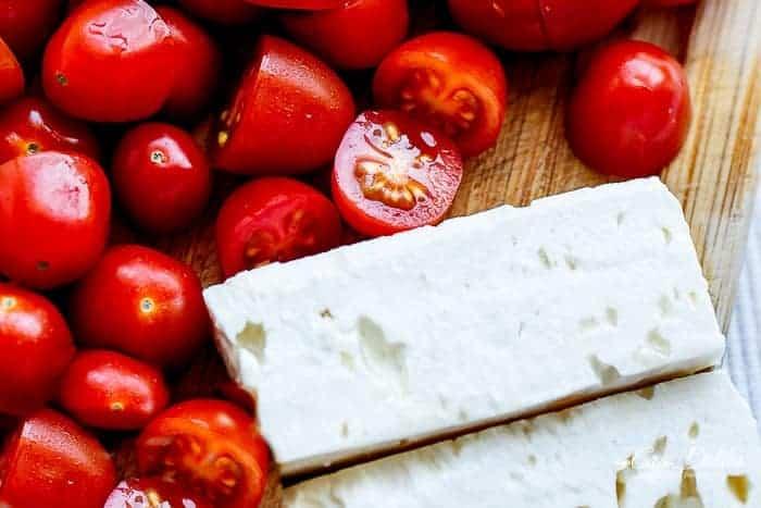 Balsamic Chickpea Avocado Feta Salad | http://cafedelites.com
