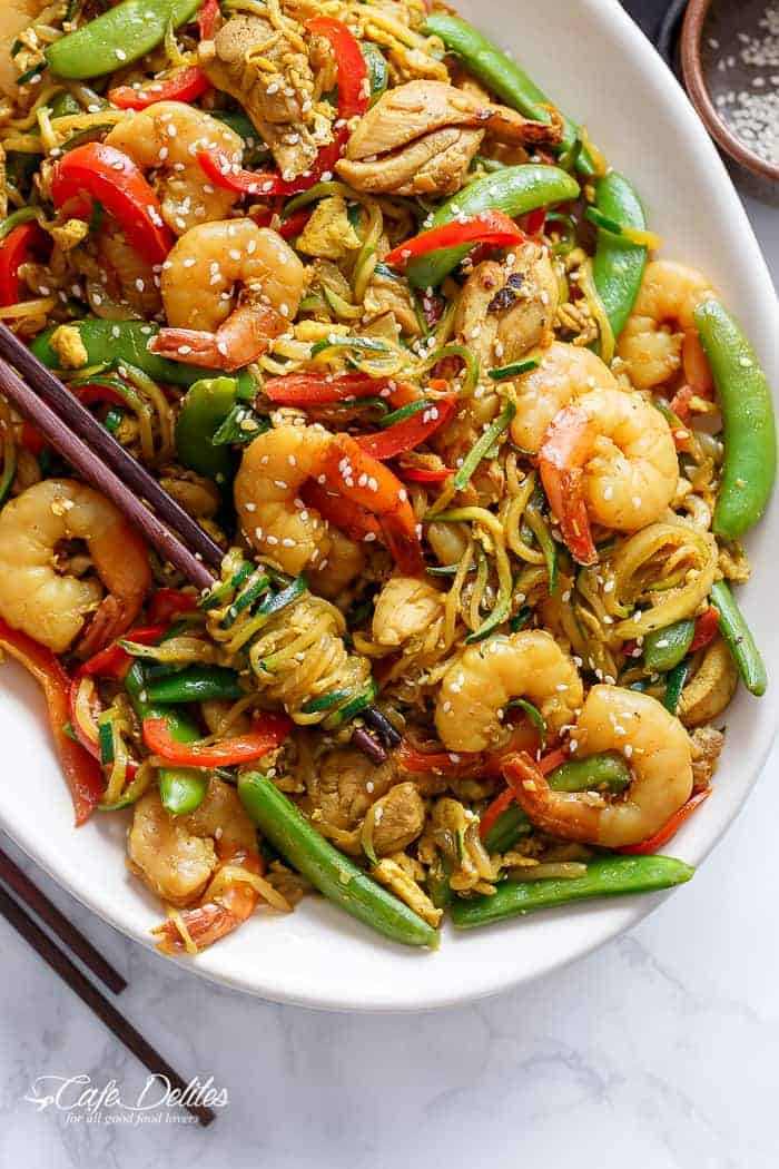 Singapore Zoodle Stir Fry With Chicken + IG GIVEAWAY