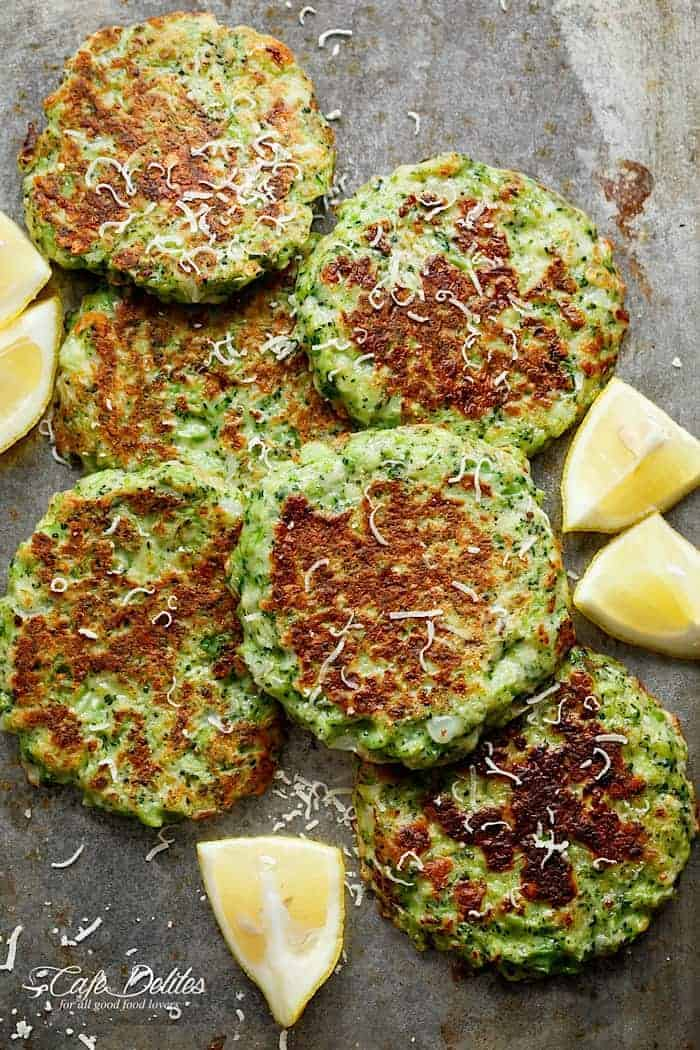 ... away people. Crispy Broccoli Parmesan Fritters ready in 20 minutes
