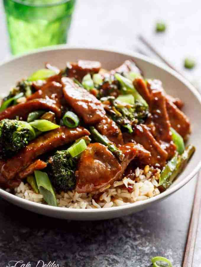 Mongolian Beef And Broccoli (EXTRA SAUCE)