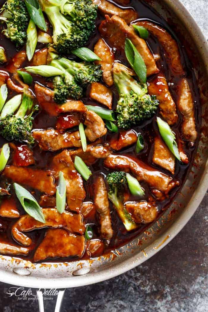 Mongolian Beef And Broccoli | http://cafedelites.com