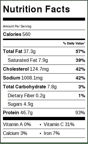 sheet-pan-chili-lime-salmon-nutrition-label