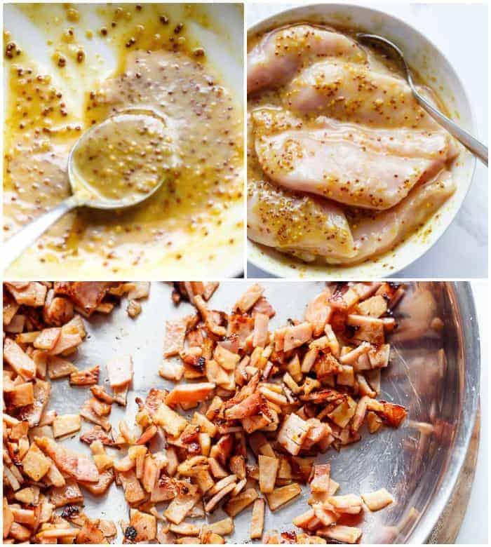 Creamy Honey Mustard Chicken With Bacon | https://cafedelites.com