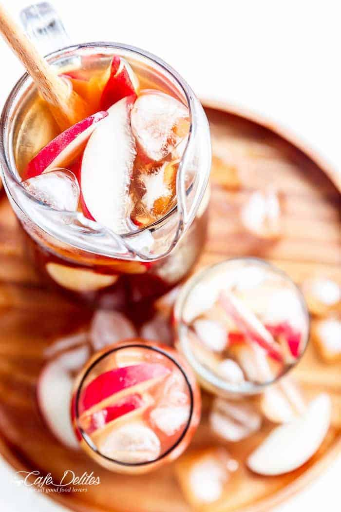 White Peach Ice Tea | http://cafedelites.com