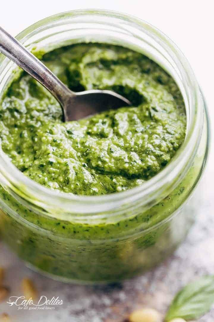 Basil Pesto Recipe | http://cafedelites.com