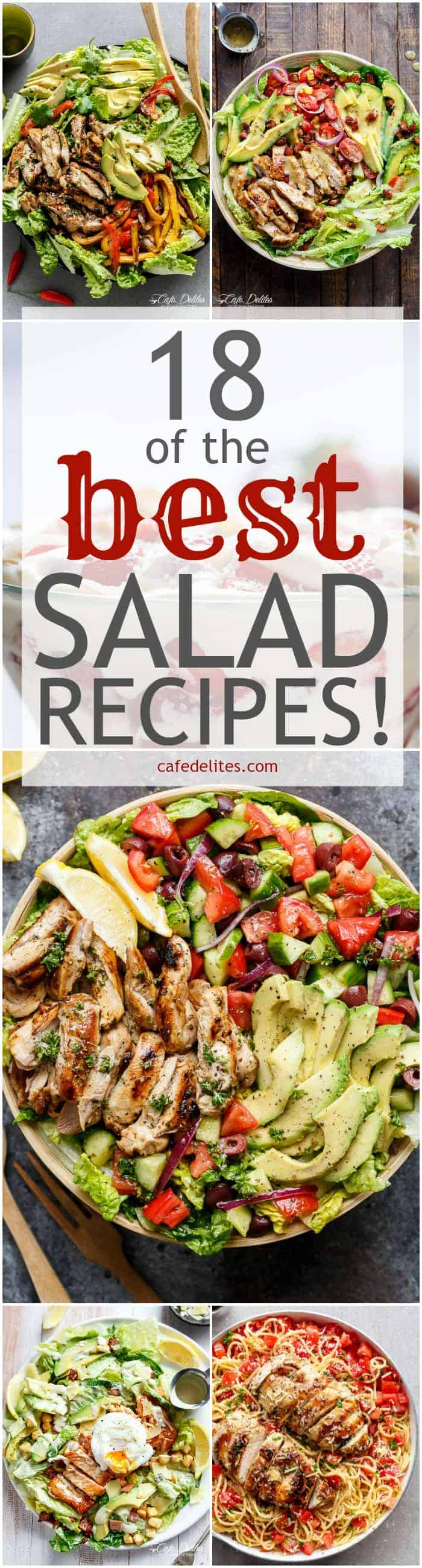 18 Best Salad Recipes | https://cafedelites.com