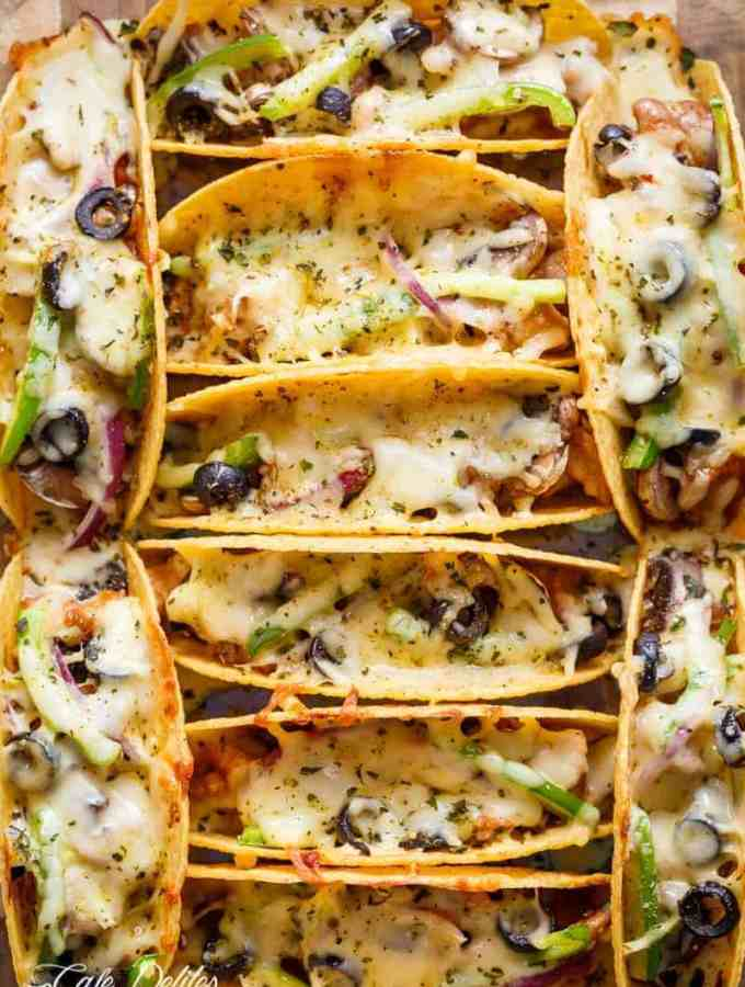 Oven Baked Barbecue Chicken Pizza Tacos