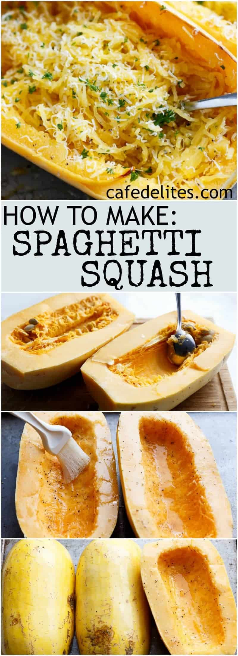 Spaghetti Squash Lasagna Boats are an easy, low carb answer to lasagna! With layers of spaghetti squash, bolognese sauce, creamy ricotta and mozzarella! | https://cafedelites.com