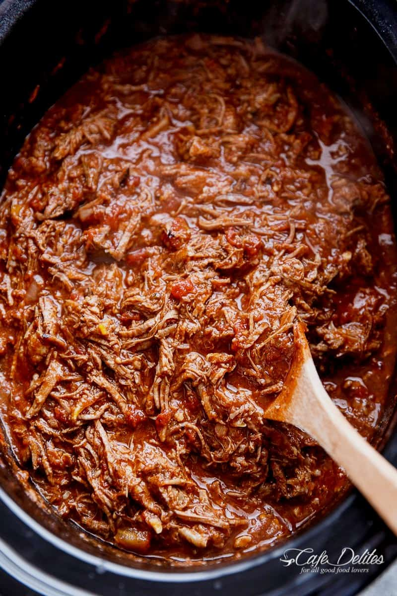 Slow Cooker Beef Ragu is a rich and tender, fall-apart tomato beef sauce. With all the magic happening in your slow cooker, come home to a satisfying, ready-made home cooked dinner! | http://cafedelites.com