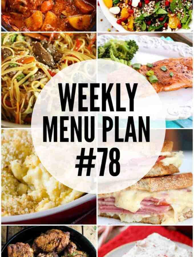 Weekly Menu Plan #78
