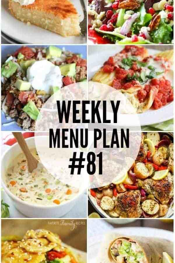 Weekly Menu Plan #81