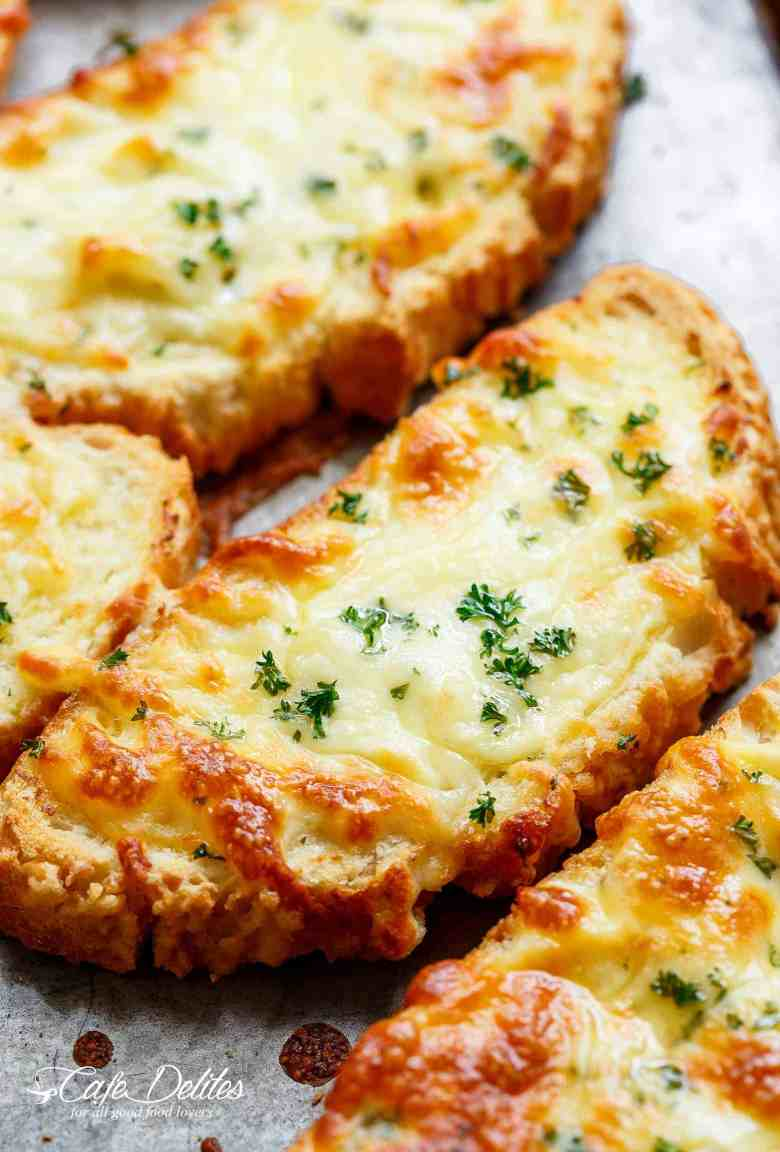 Individual Garlic Cheese Breads (Single Serve RECIPE)